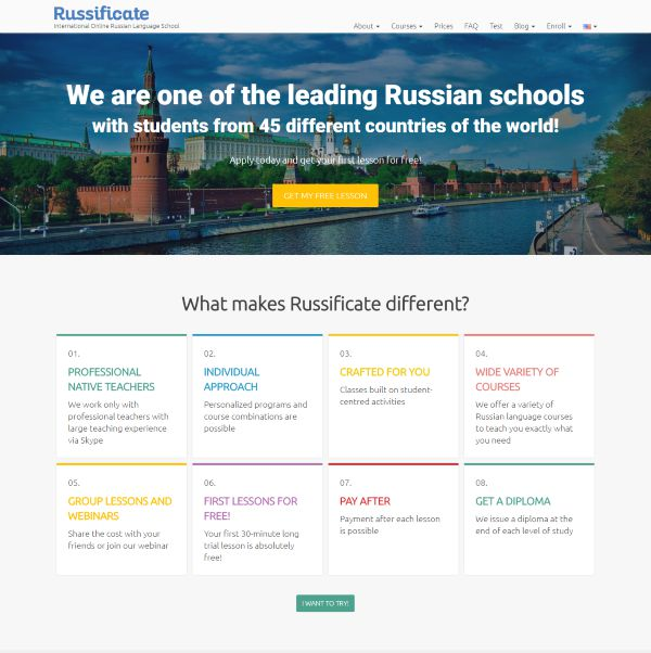 Russificate site